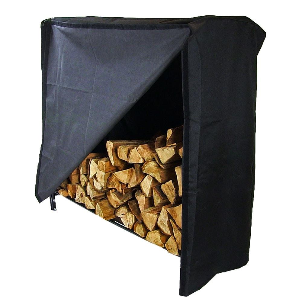 Sunnydaze Decorative Firewood Log Rack - Multiple Sizes - Black - Thumbnail 16