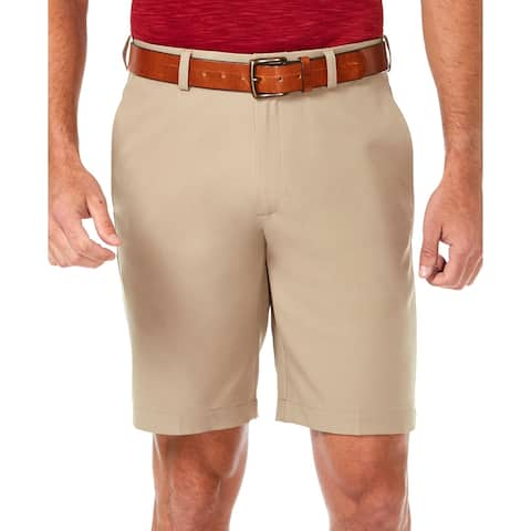 Haggar Mens Cool 18 Pro Dress Shorts Gaberdine Flat Front