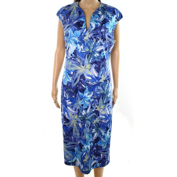 Connected Apparel Women's Floral Print Shift Dress