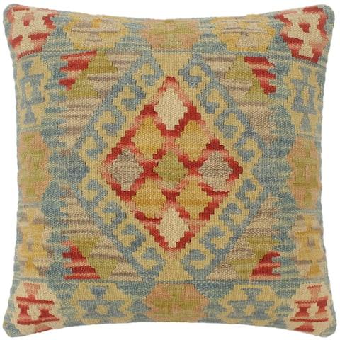 Boho Chic Turkish Leslie Hand Woven Kilim Pillow