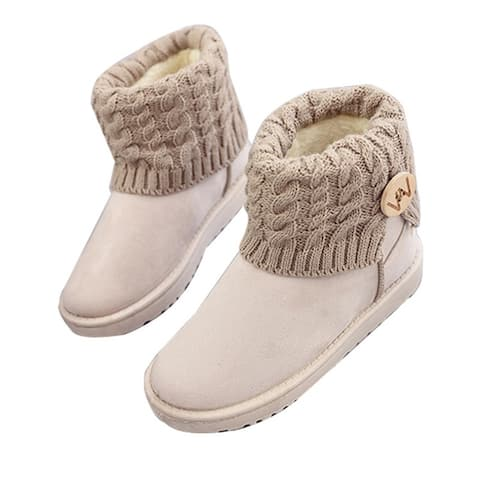 Women's Winter Snow Boots Mid Calf Boots Women Plush Shoes
