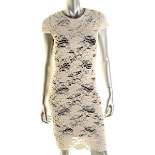 L'Agence Womens Party Dress Lace Cap Sleeve