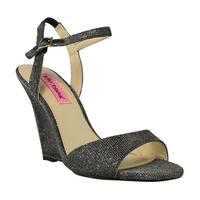 Betsey Johnson Womens Black Slides Size 8