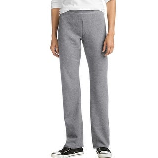 Hanes ComfortSoft EcoSmart® Women's Petite Open Leg Sweatpants - Color - Light Steel - Size - M