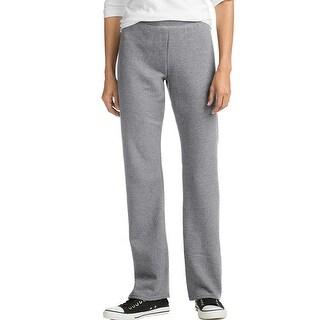 Hanes ComfortSoft EcoSmart® Women's Petite Open Leg Sweatpants - Color - Light Steel - Size - S