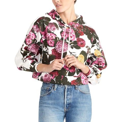 Rachel Rachel Roy Women's Sweatshirt White Size Small S Floral Hoodie