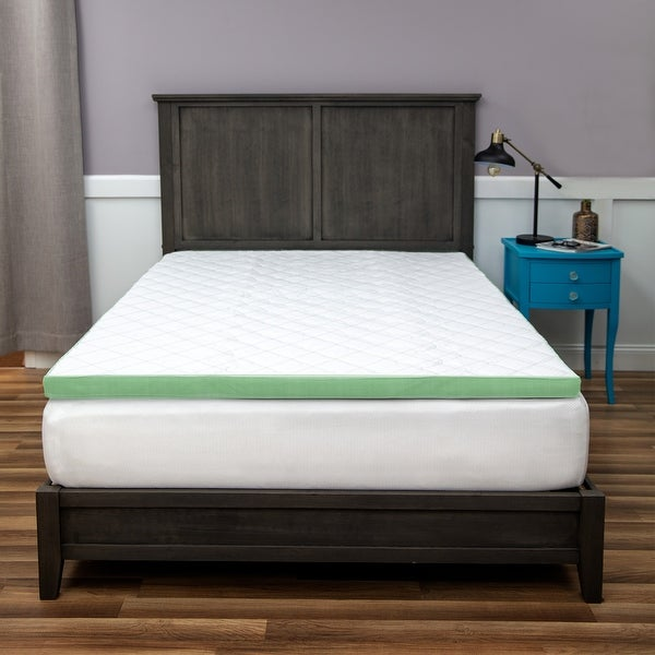 SensorPEDIC 3-Inch Ultimate Cooling Luxury Quilted Memory Foam Mattress Topper - White