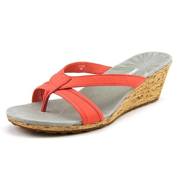 Patagonia Solimar Slide Open Toe Leather Wedge Sandal