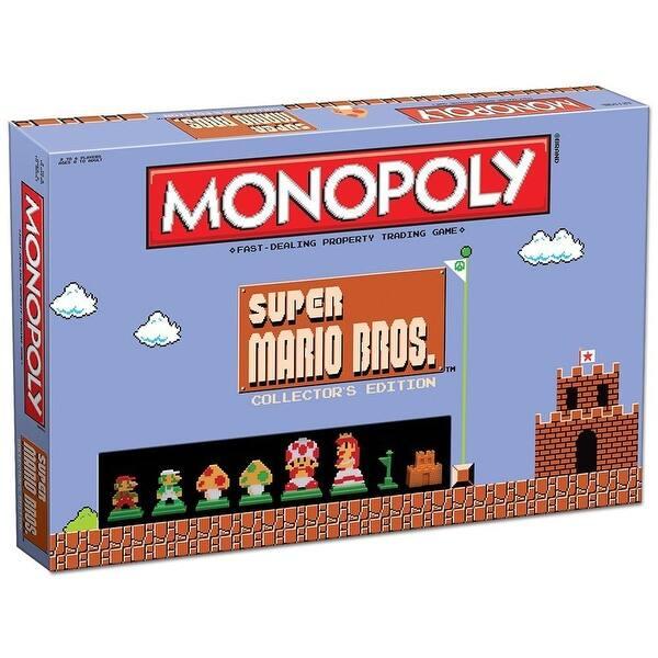 Shop Super Mario Bros Monopoly Collector S Edition Board Game Multi Overstock 13677245
