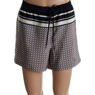 Vince Womens Casual Shorts Silk Geometric - L