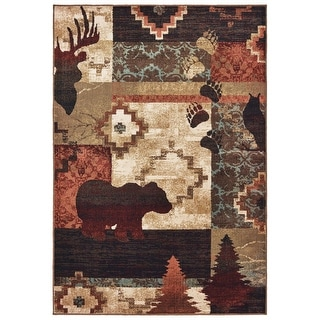 Link to Westley Nature Imprints Color Block Area Rug Similar Items in Rugs