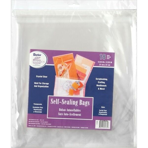 "Self-Sealing Bags 18/Pkg-12.25""X12.25"" Clear"