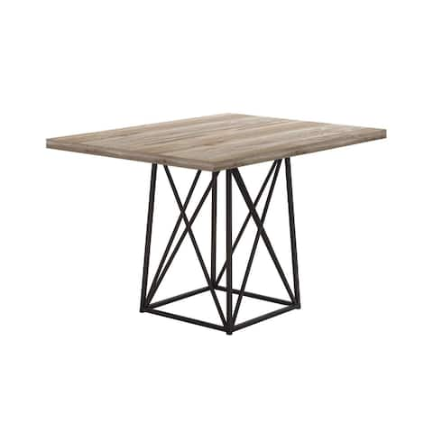 """Offex Dining Table - 36"""" x 48"""" Taupe Reclaimed Wood-Look/Black - Not Available"""