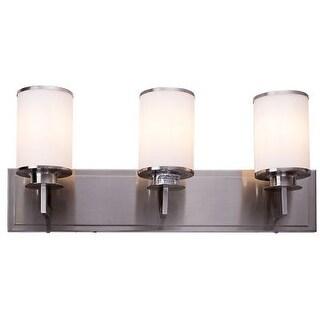 Costway 3 Light LED Vanity Fixture Brushed Nickel Wall Sconces Lighting  Bathroom