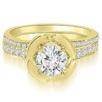 1.50 cttw. 14K Yellow Gold Round Cut Diamond Bridal Set