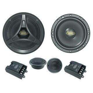6.5-Inch 200 Watt 2-Way Coaxial Speaker Component System Kit, Tweeters, Crossovers, Set of 2