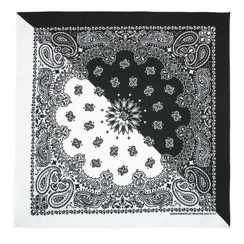 CTM® Split Paisley Print Bandana (Pack of 5) - one size