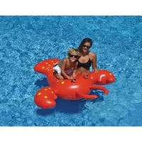 "65"" Red Rock Lobster Inflatable Novelty Swimming Pool Floating Lounge Raft"