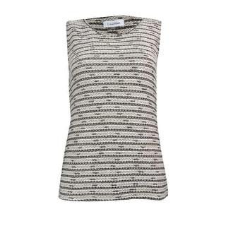 Calvin Klein Women's Crotchet Shell Sweater - xs