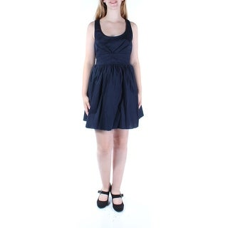 Womens Navy Sleeveless Above The Knee Fit + Flare Dress Size: 11