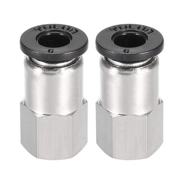 Push to Connect Tube Fitting Adapter 6mm OD x 1/8 NPT Straight Connecter 2pcs