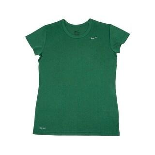 Nike Women's Short Sleeve Performance Tee Shirt Green Medium