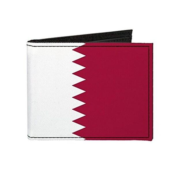 Buckle-Down Canvas Bi-fold Wallet - Qatar Flag Accessory