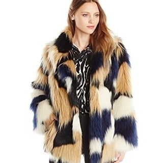 Trina Turk Women's Makayla Faux-Fur Coat Size Small