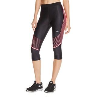 Nike Womens Capri Pants Striped Dri-Fit