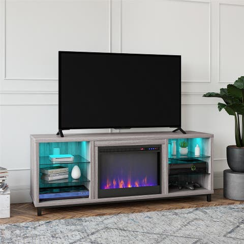 Avenue Greene Westwood Deluxe Fireplace TV Stand for TVs up to 70 inches