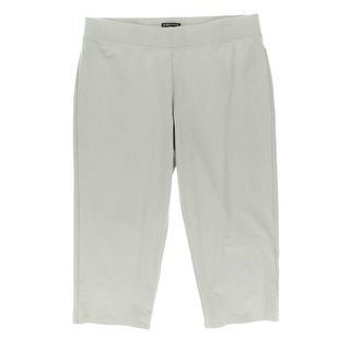 Eileen Fisher Womens Crepe Slim Leg Capri Pants