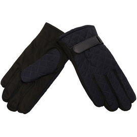 Mens Gloves Winter Warm Quilted Top Easy Grip Underside