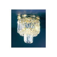 """Classic Lighting 1620-G 9.5"""" Crystal Flush Mount Ceiling Fixture from the Ambassador Collection - n/a"""