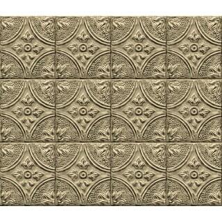 "Brewster BHF277 18"" Wide Tin Tile Peel and Stick Backsplash - N/A"