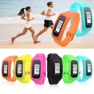 Step-By-Step Simple Pedometer Watch - 8 Colors - wrist size up to 9 inch