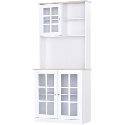 "HOMCOM 72"" Kitchen Cabinet Pantry with Sleek Design & Ample Storage"