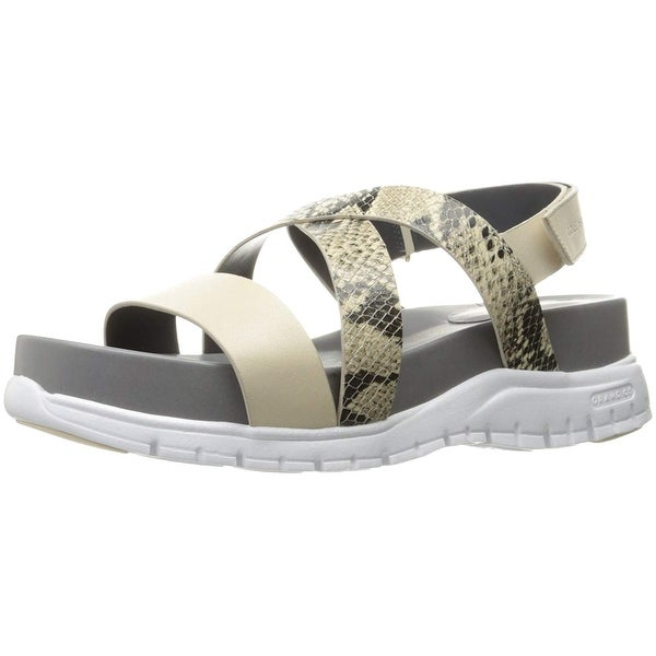4999899d4 Cole Haan Womens Zerogrand Criss Cross Leather Open Toe Casual Strappy  Sandals