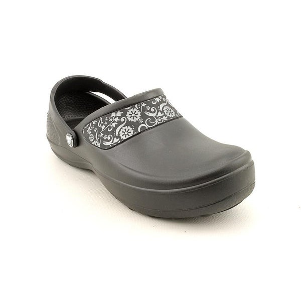 a1a635cd9ab33 Shop Crocs Mercy Work Women Round Toe Synthetic Black Clogs - Free ...