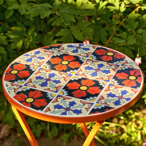"""Set of 2 """"Saint Petersburg"""" Small Mosaic Accent Tables"""