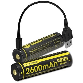 NITECORE NL1826R 2600mAh USB Rechargeable 18650 Li-ion Battery