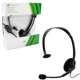 Microsoft Xbox 360 Black Wired Gaming Headset