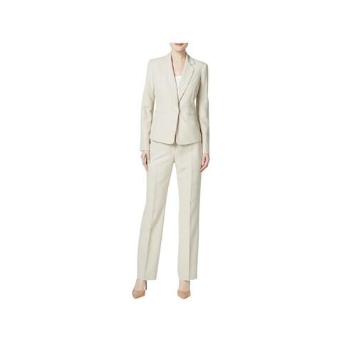 Le Suit Womens French Riviera Pant Suit Pinstripe 2PC