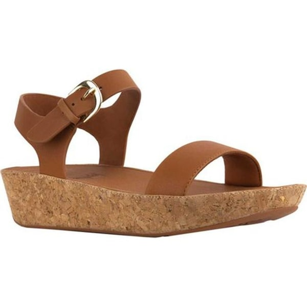 bb87099ed Shop FitFlop Women s Bon II Two Piece Sandal Caramel Leather - Free ...