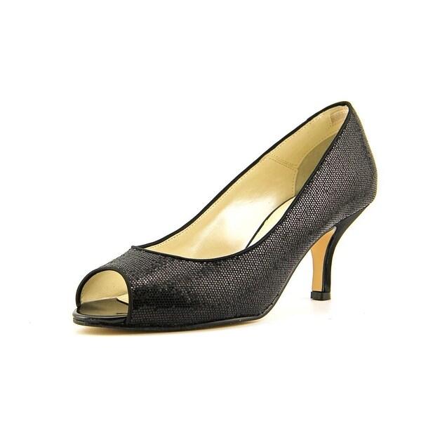 Caparros Denver   Peep-Toe Canvas  Heels