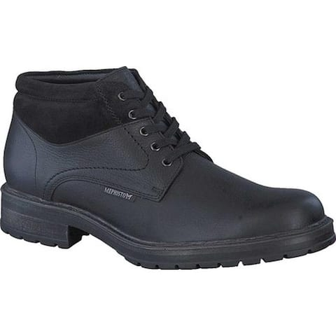 Mephisto Men's Lukas Ankle Boot Black/Warm Grey Nevada Smooth Leather/Suede