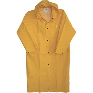 "Boss 3PR8000YX Raincoat X Large Pvc, 48"", 35 Mil, Yellow"