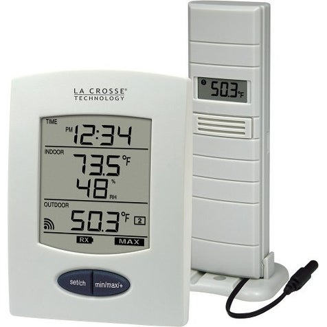 """La Crosse Technology LCR9029UITCBPW La Crosse Technology WS-9029U Wireless Weather Station with Digital Time"""