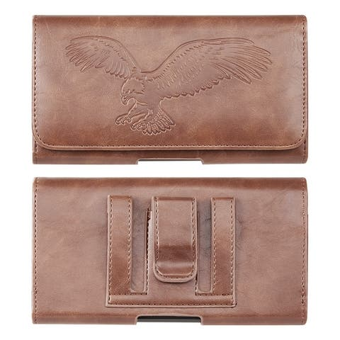 Leather Holster Cover Belt Loop Wallet for iPhone 11 Pro, X, 8, 7 Plus