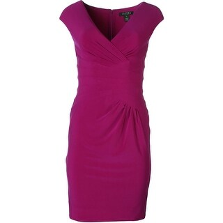 Lauren Ralph Lauren Womens Petites Cocktail Dress Sleeveless V-Neck