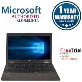 "Refurbished HP ProBook 6570B 15.6"" Laptop Intel Core i5-3320M 2.6G 4G DDR3 500G DVDRW Win 10 Pro 1 Year Warranty"